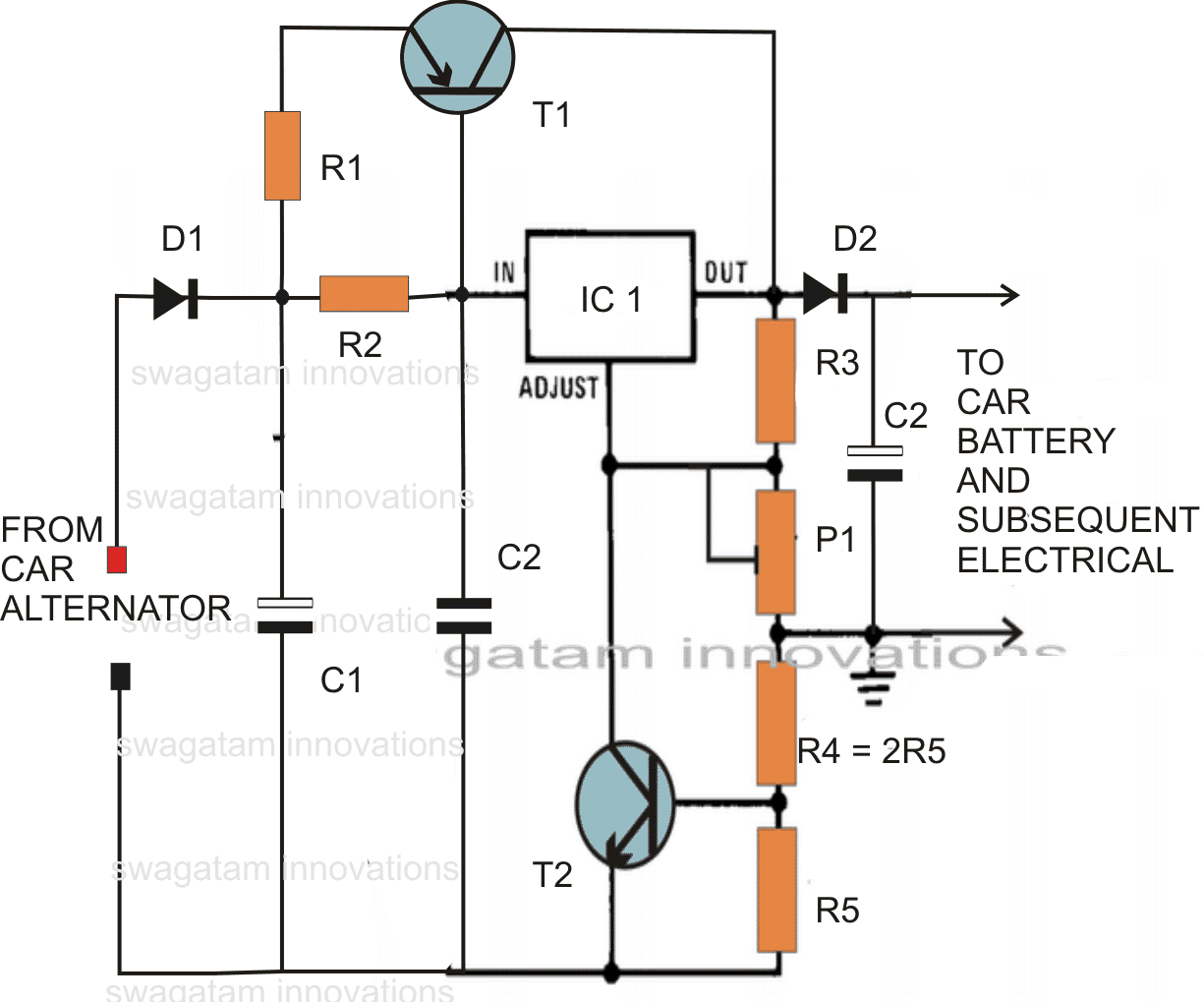 motorcycle voltage regulator circuit diagram