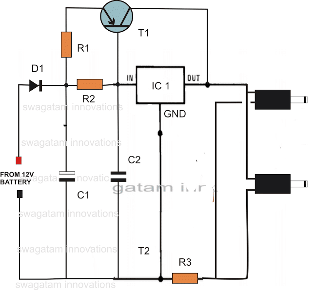 DC Double Cell Phone Charger Circuit