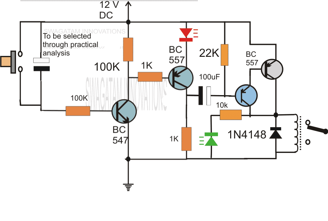 simple delay timer circuits explained homemade circuit projects  wiring diagram for a off delay timer #14