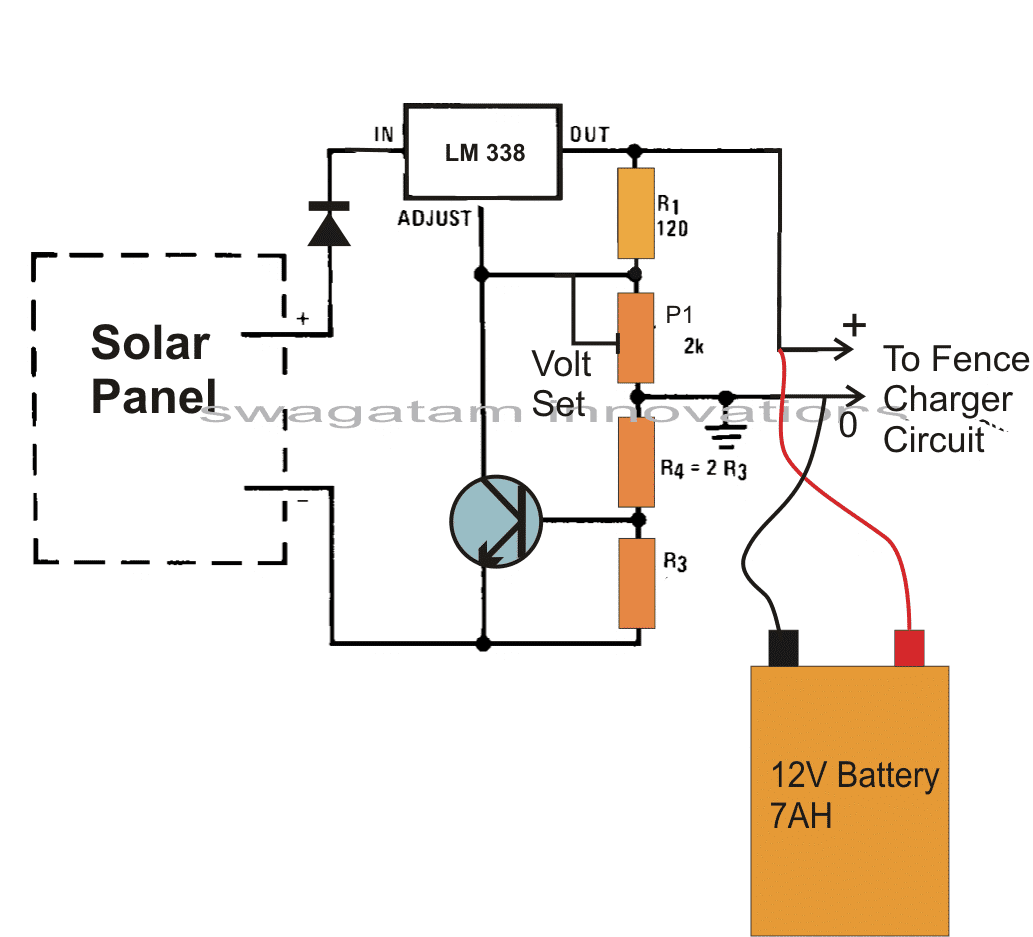 Make This Solar Powered Fence Charger Circuit