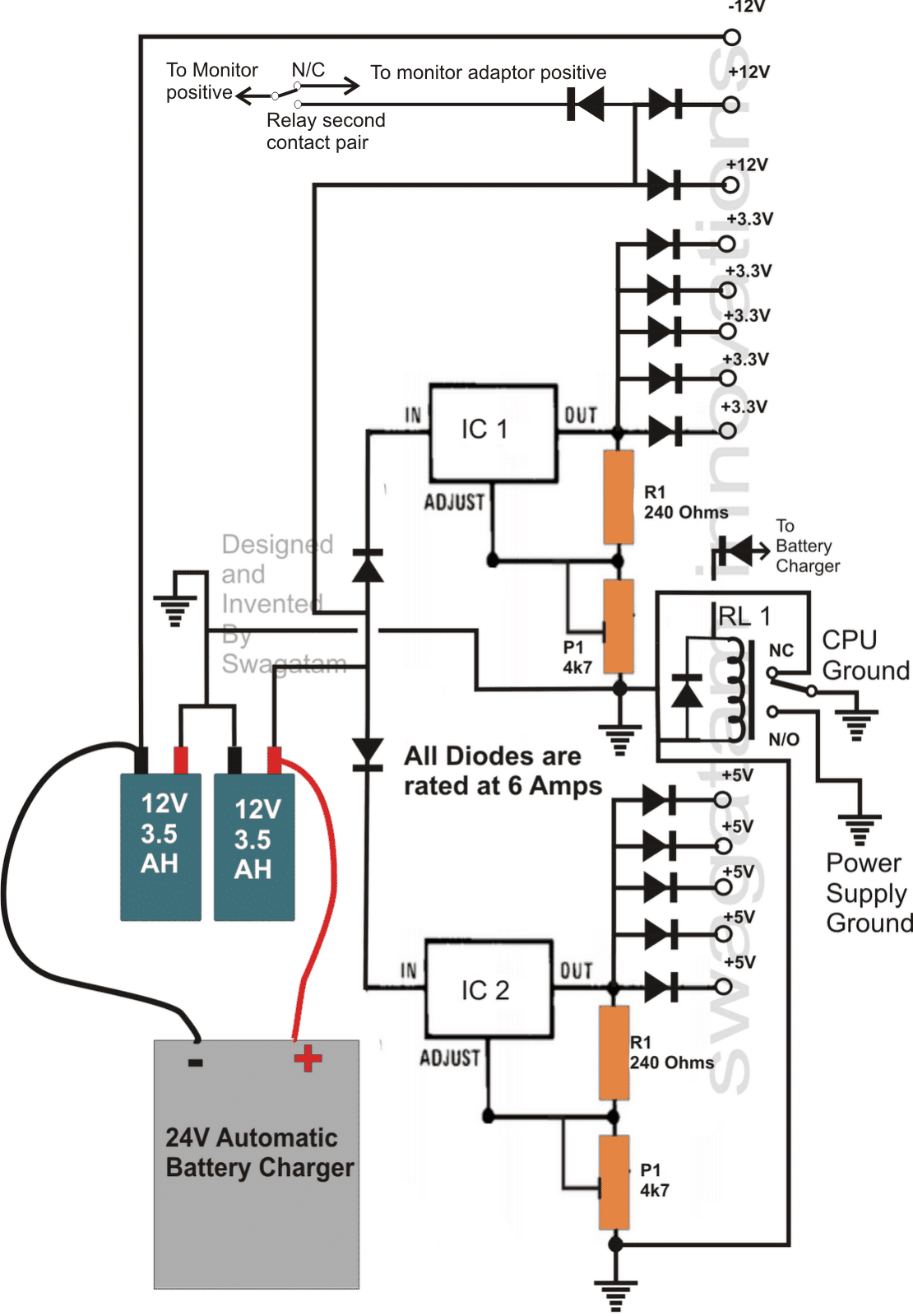 Transformerless UPS Circuit for Computers (CPU) | Homemade Circuit on ups battery, ups power supply schematic, ups design schematic, ups transformer schematic,