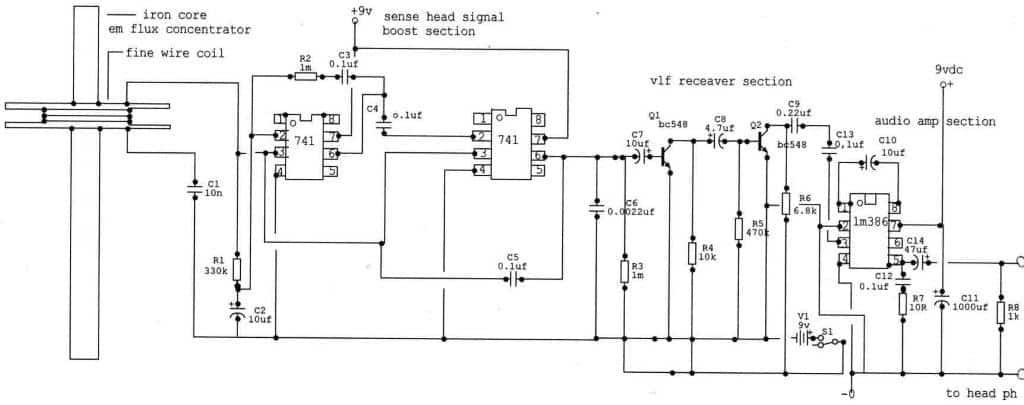 VLF Detector Circuit using IC 741