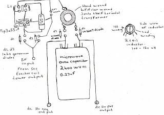 Sec Exciter Powered HV Capacitor Charger Circuit Diagram