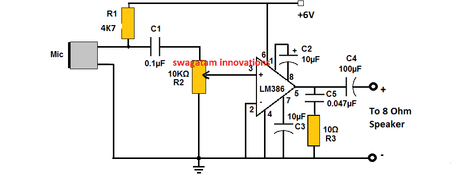 LM386 Amplifier Circuit - Working Specifications Explained