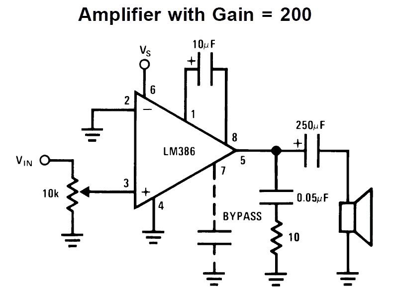 lm386 amplifier circuit