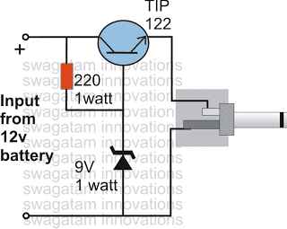 DC Cell Phone Charger Circuit Using a Single Transistor