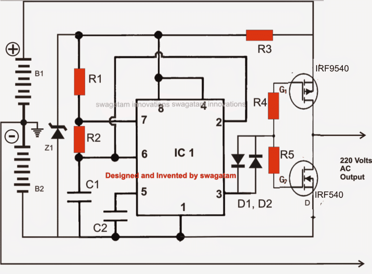 Making a Transformerless Solar Inverter Circuit