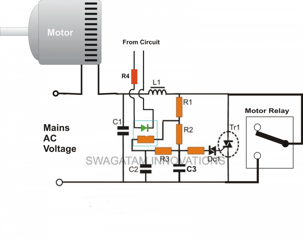 Relay Circuit With Led Circuits The Structural Wiring Diagram Adding A Soft Start To Water Pump Motors Reducing Driver Light