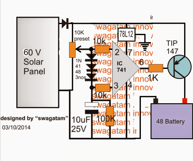 Buck Solar Charger Circuit Using Ic Tl494 Making Easy Circuits