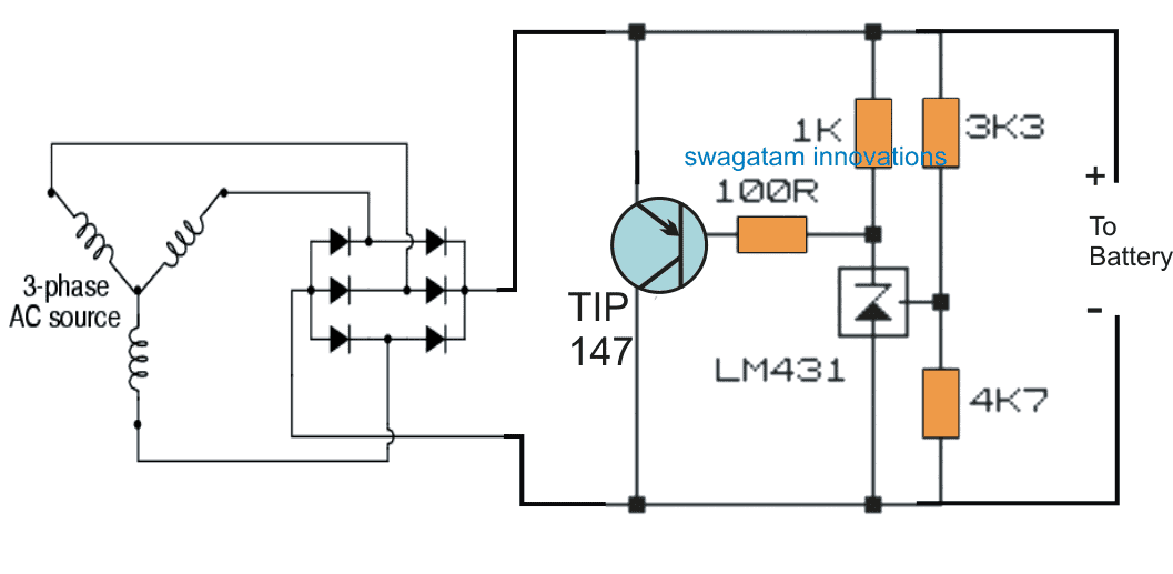 motorcycle transistor shunt regulator using the shunt regulator IC TL431