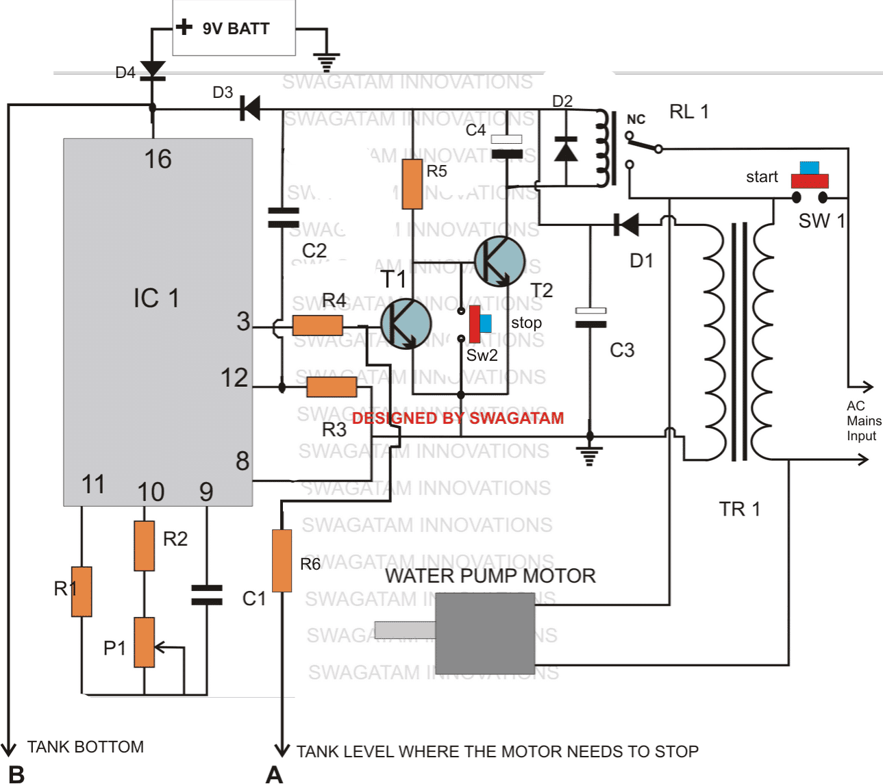 Making A Multi Function Water Level Controller Alarm Indicator Circuit Parts List For The Above Explained