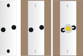 1 Watt LED Heatsink Drilling Details