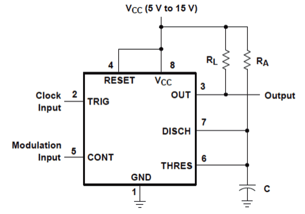 How to Generate PWM Using IC 555 | Homemade Circuit Projects