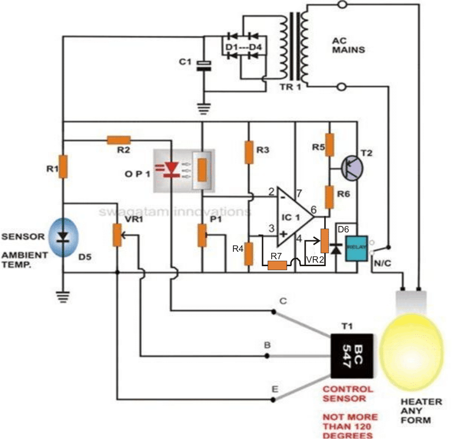 how to build a simple egg incubator thermostat circuit rh homemade circuits com chicken egg incubator diagram egg incubator electrical diagram