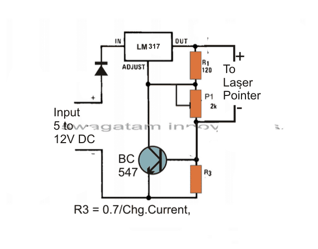 laser diode driver rh homemade circuits com Mini Laser Diode laser diode power supply circuit diagram