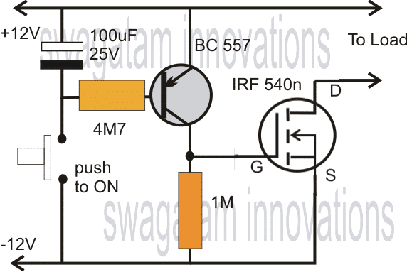 single mosfet timer circuit
