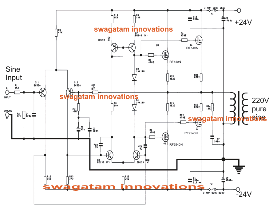 true sine wave inverter circuit