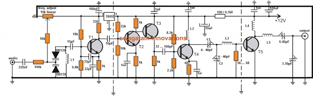 long range transmitter circuit 2 to 5 km range. Black Bedroom Furniture Sets. Home Design Ideas