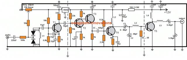 Long Range Transmitter Circuit - 2  to 5 Km Range