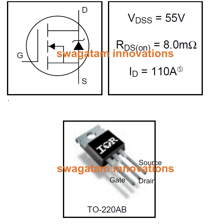 55V 110A N-Channel Mosfet IRF3205 Datasheet | Homemade