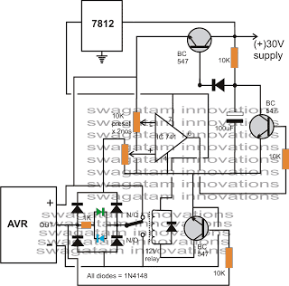 Circuit Diagram Of Avr | Automatic Voltage Regulator Avr Analyzer Homemade Circuit Projects