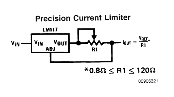 current limiter using LM338 circuit