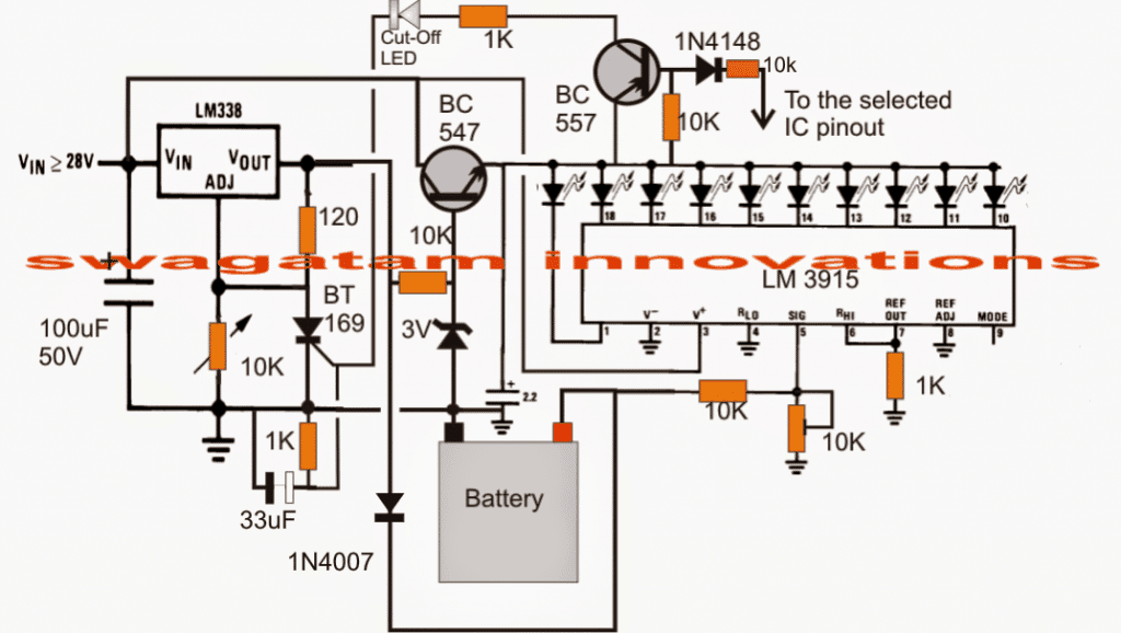 Wiring Diagram For 12v Indicators : V automatic battery charger with