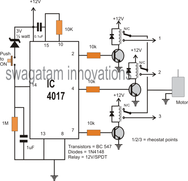 10 step relay selector switch circuit