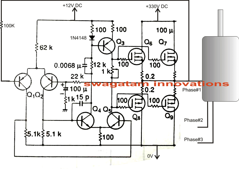 homemade phase converter wiring diagram single phase ac to three phase ac converter circuit homemade  three phase ac converter circuit