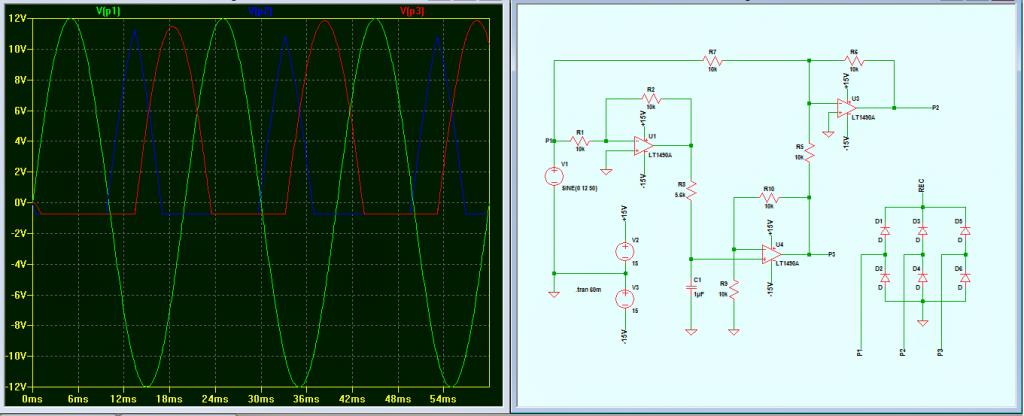 3 phase generator with waveform