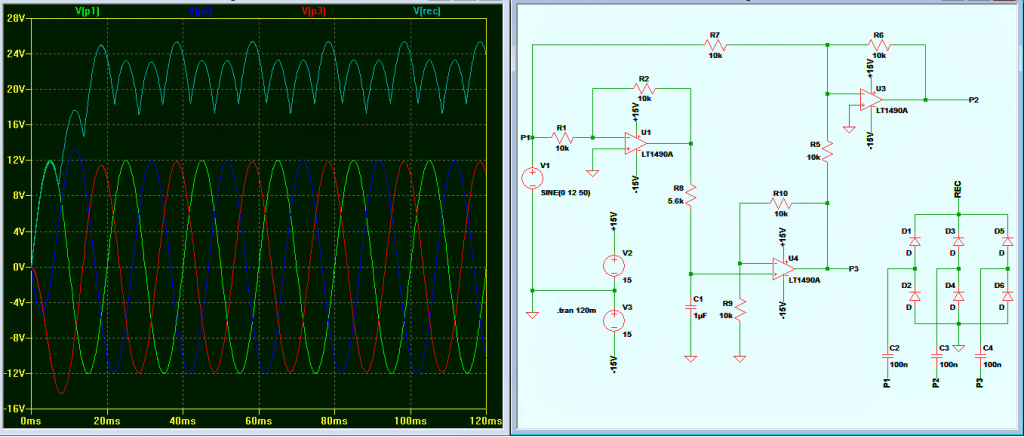 3 Phase Signal Generator Circuit Using Opamp Homemade Projects Simple 15v Square Wave Though The Rectified Output Is Not Consistent But It Quite Acceptable