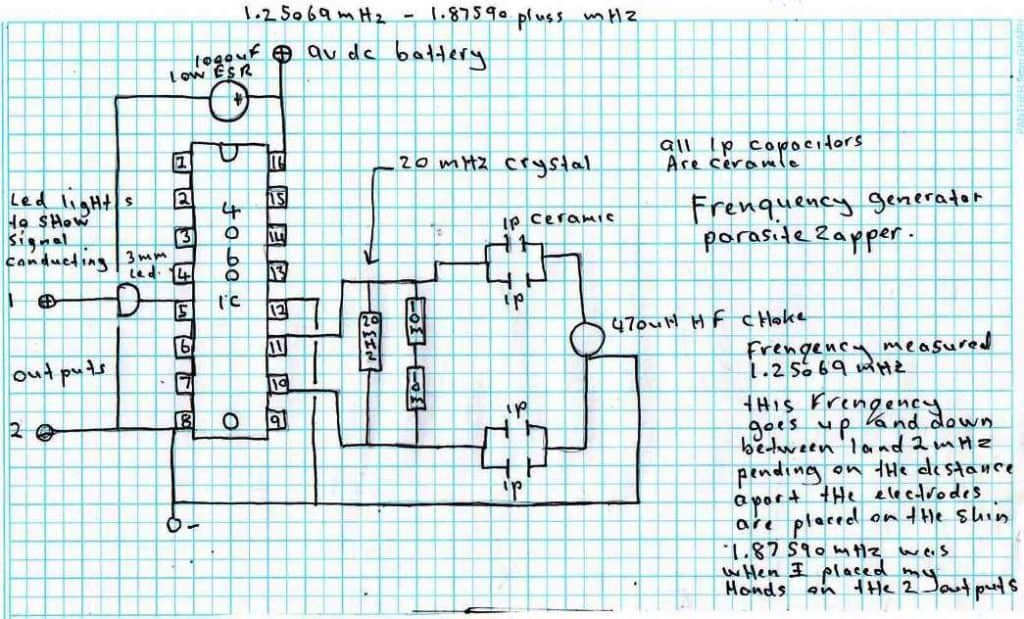 making a parasite zapper circuit ic schematic diagram circuit schematic \