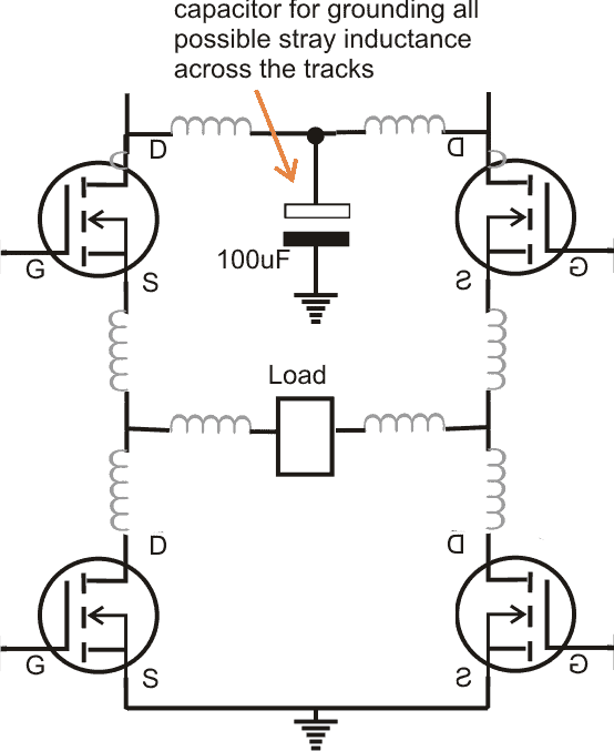how to protect mosfet in H bridge circuits or full bridge circuit