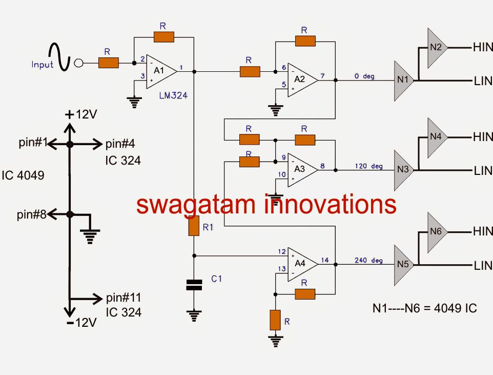 Make this 3 Phase Inverter Circuit