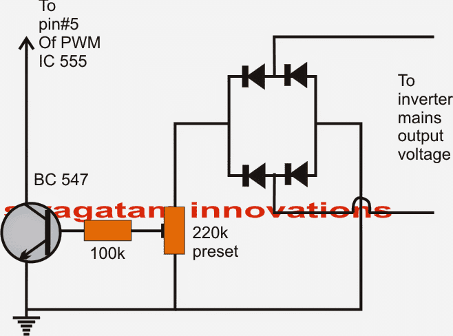 Circuit Diagram Of Inverter | 7 Modified Sine Wave Inverter Circuits Explored 100w To 3kva