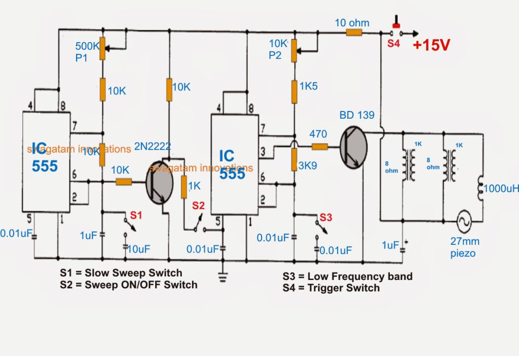 ultra sonic devastator weapon circuit diagram