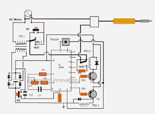 Electronicsproject additionally Telephone Wiring Schematics as well Two Telephone Box additionally Mains Doorbell Wiring Diagram besides Simple Dc Timer Using Mosfet Onoff. on wiring diagram for bell transformer
