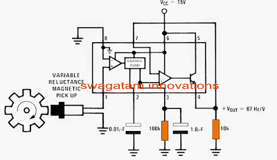 simple accurate speedometer circuit using a single IC