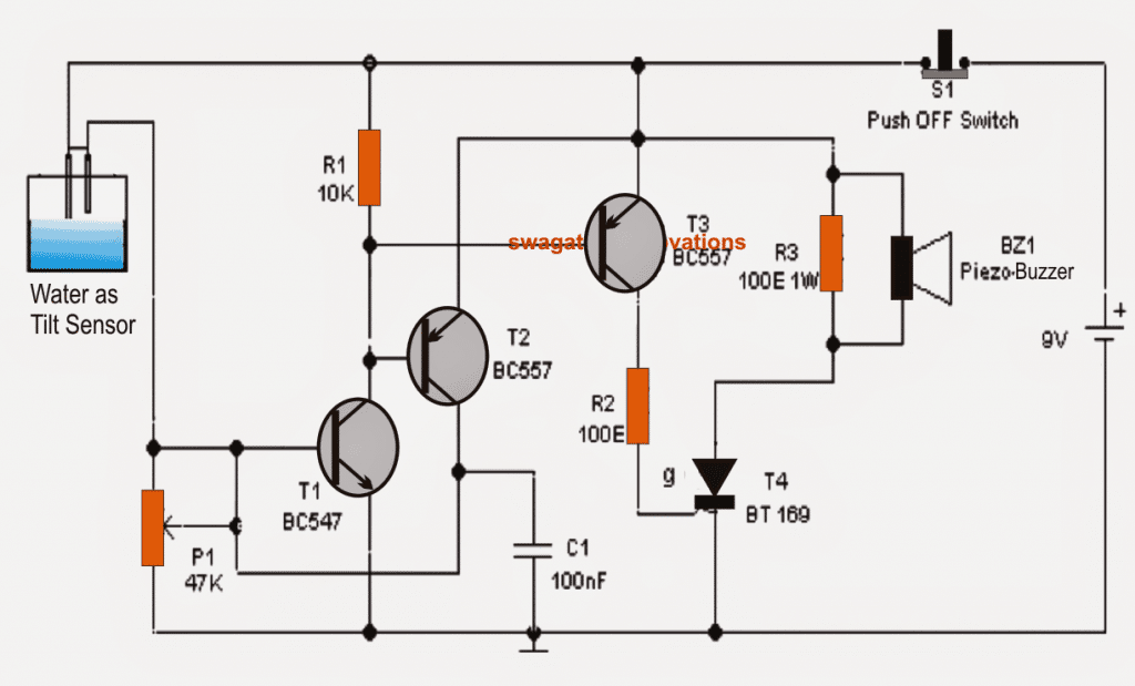 tilt sensor switch circuit