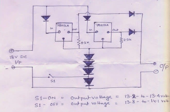 simple 100 ah lead acid battery charger circuit