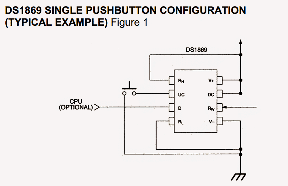 digital potentiometer using ic ds1869