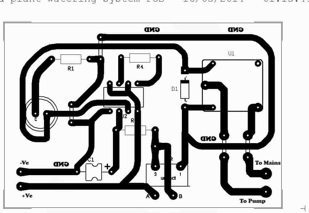 simple automatic plant watering circuit for monitoring