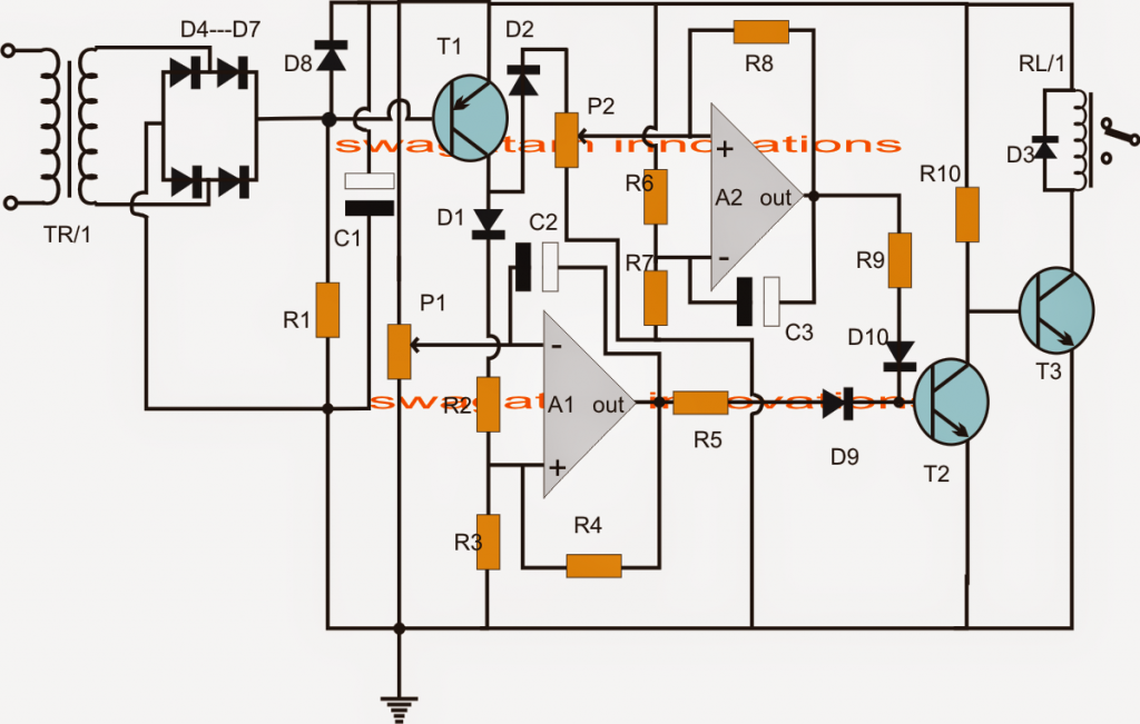 Ups Relay Changeover Circuit With Zero also  together with Simple Running Led Circuit Diagram likewise Automatic Dual Battery Changeover Relay further 288447. on 200 led reverse forward light chaser