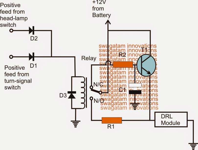 Enhanced Car DRL Controller Circuit
