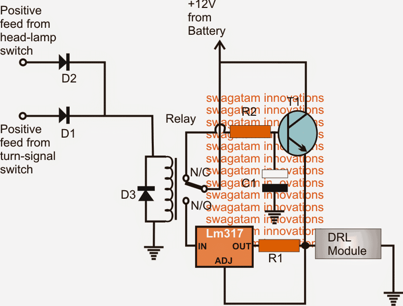 Drl Smart Relay on Spdt Relay Circuit Diagram