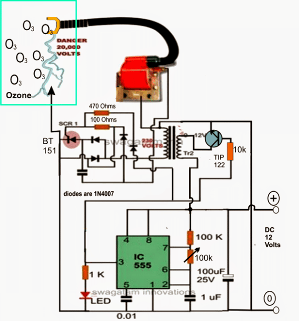 Ozone Water/Air Sterilizer Circuit