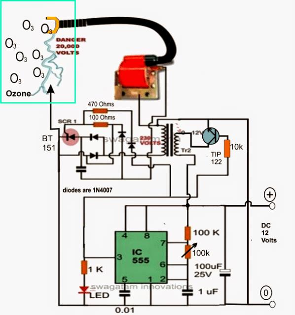 Ozone Water/Air Sterilizer Circuit