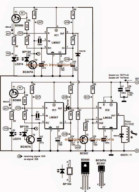 infrared staircase lamp controller circuit
