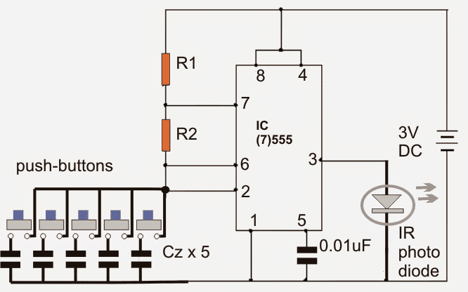 multiple appliances remote control circuit
