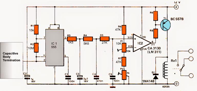 Capacitive Touch Sensor Circuit